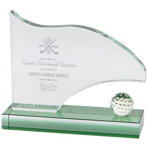 Royal Golf Jade Glass Award 140mm